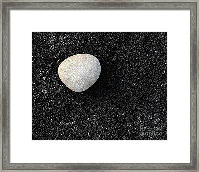 Stone In Soot Framed Print