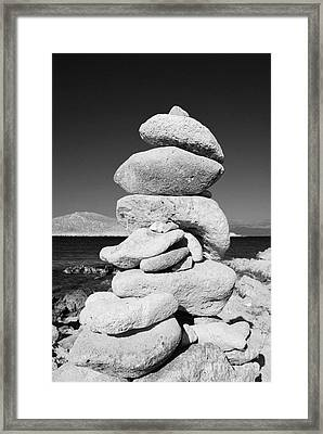 Stone Tower On Halki Island Framed Print