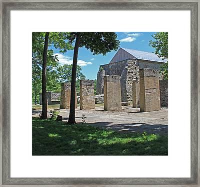 Stonehenge At Lockridge Framed Print by Robert Sander