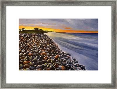 Stony Beach Framed Print by Mats Eriksson