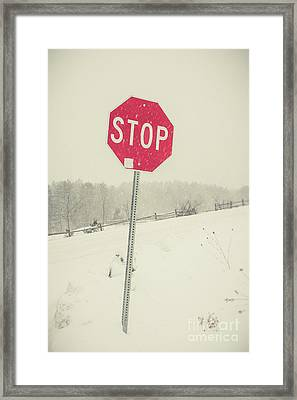 Framed Print featuring the photograph Stop by Edward Fielding