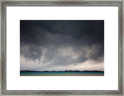 Storm On Karakul Lake Framed Print by Konstantin Dikovsky
