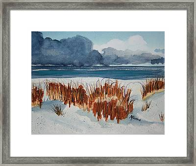 Storm Rollin In Framed Print