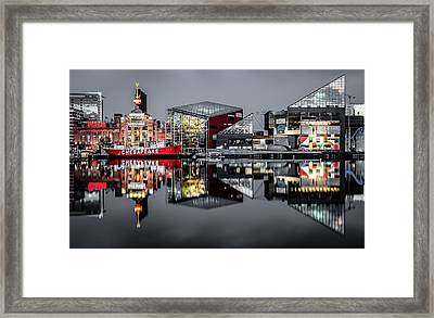 Stormy Night In Baltimore Framed Print