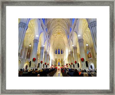 St.patricks Cathedral Restored Framed Print by Ed Weidman