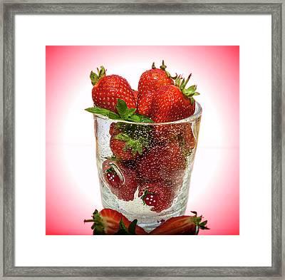 Strawberry Dessert Framed Print