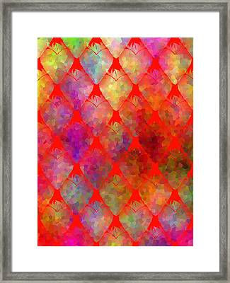 Strawberry Hearts Framed Print