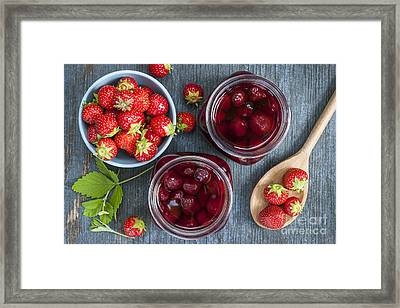 Strawberry Preserve Framed Print by Elena Elisseeva