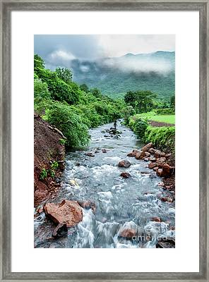 Framed Print featuring the photograph Stream by Charuhas Images