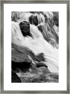 Stream Flow Framed Print by Les Cunliffe