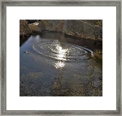 Stream Light Framed Print by SeVen Sumet