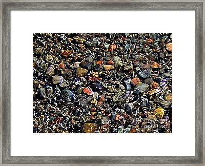Framed Print featuring the photograph Stream Over Pebbles by Erica Hanel