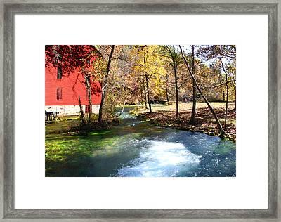 Stream Running Framed Print by Jim Kuhlmann