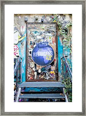 Street Art Framed Print by Tom Gowanlock