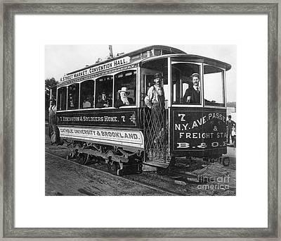 Street Car, C. 1895 Framed Print