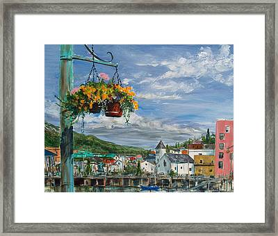 Street Flowers Framed Print by Pete Maier