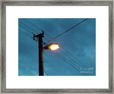Street Lighting Framed Print