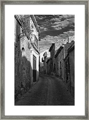 Street Little Town Framed Print