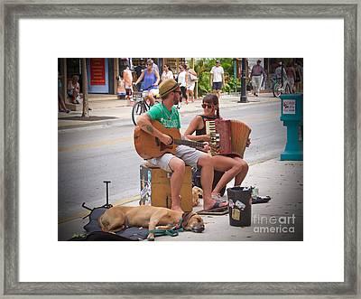 Street Melody Framed Print
