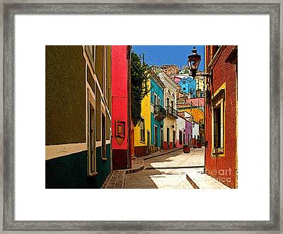 Street Of Color Guanajuato 2 Framed Print by Mexicolors Art Photography