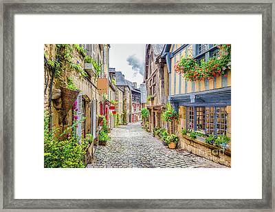 Streets Of Dinan Framed Print by JR Photography