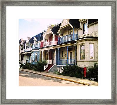 Streets Of Montreal Framed Print by Reb Frost