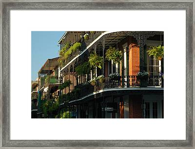Streets Of New Orleans Framed Print by Lori Mellen-Pagliaro