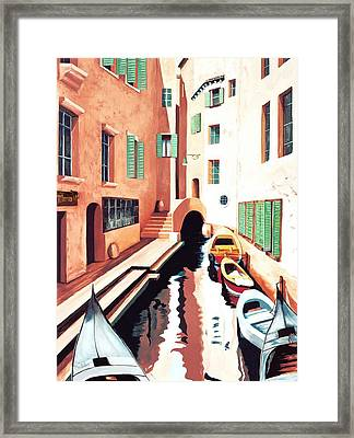 Streets Of Venice - Prints From Original Oil Painting Framed Print