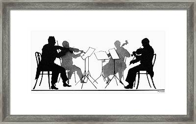 String Quartet, C1935 Framed Print