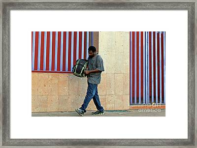 Framed Print featuring the photograph Stripes by Joe Jake Pratt