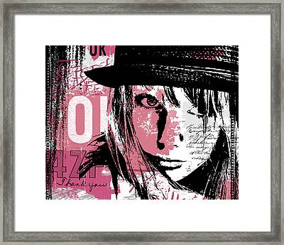 Stronger In Pink Framed Print