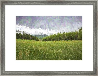 Stuck In The Field II Framed Print by Jon Glaser