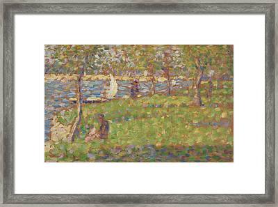 Study For La Grande Jatte Framed Print