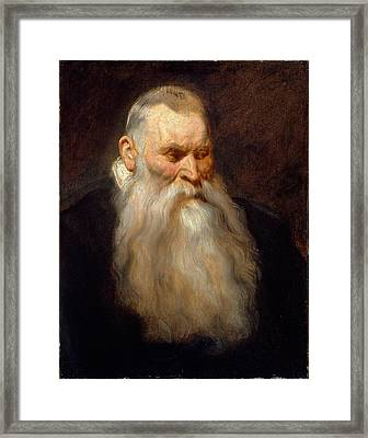 Study Head Of An Old Man With A White Beard Framed Print