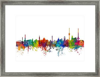 Stuttgart Germany Skyline Framed Print by Michael Tompsett