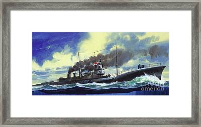 Suicide Subs Framed Print by Wilf Hardy