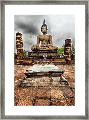 Framed Print featuring the photograph Sukhothai Historical Park by Adrian Evans