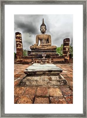 Sukhothai Historical Park Framed Print