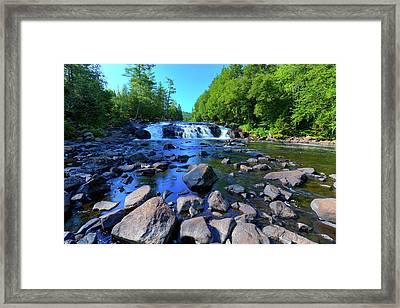 Summer At Buttermilk Falls Framed Print