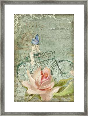 Summer At Cape May - Bicycle Framed Print by Audrey Jeanne Roberts