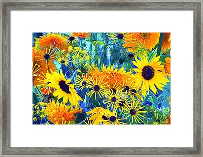 Framed Print featuring the photograph Summer Bouquet by Byron Varvarigos