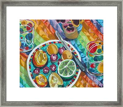Summer Breakfast Framed Print by Jan Bennicoff