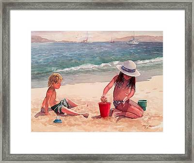 Summer Days Framed Print by Laura Lee Zanghetti