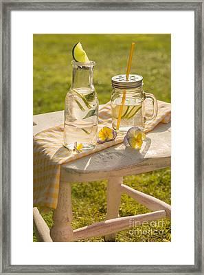 Summer Drinks Framed Print by Amanda Elwell