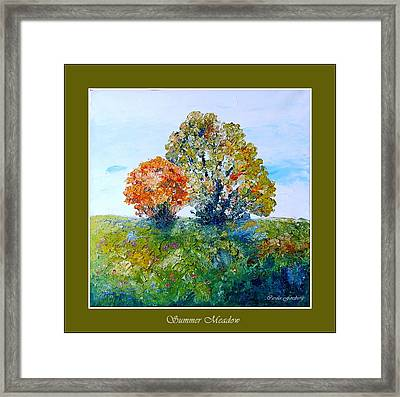 Summer Meadow Framed Print by Carola Ann-Margret Forsberg