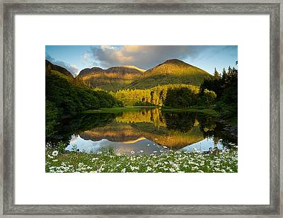 Summer Reflections In Glencoe Framed Print
