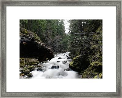 Summit Creek  Framed Print