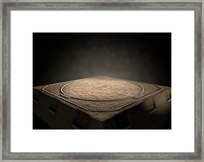 Sumo Ring Empty Framed Print by Allan Swart