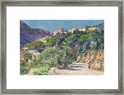 Sun-drenched Hills Near Menton Framed Print