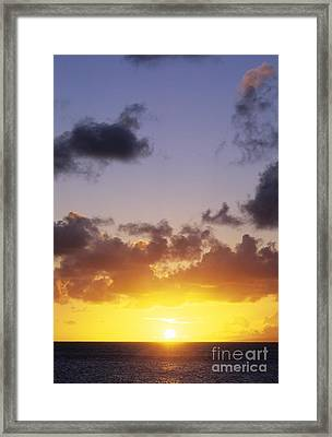 Sun Over Horizon Framed Print by Carl Shaneff - Printscapes